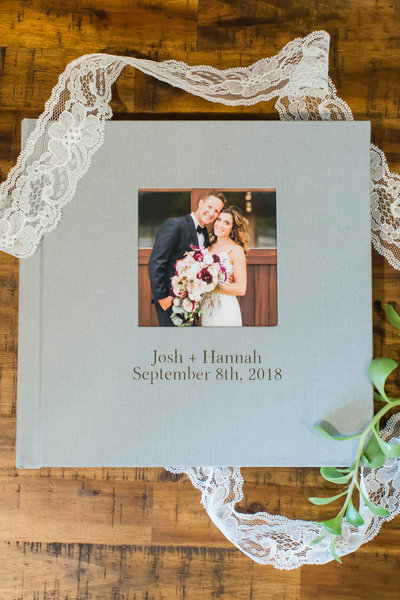 heirloom album by wedding photographer akron ohio