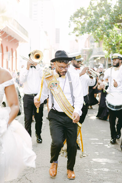 New orleans second line with Knockaz brass band