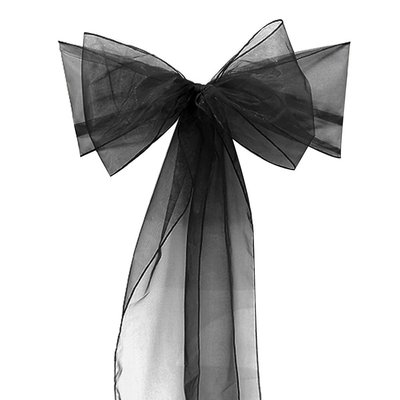 Free-shipping-150PCS-black-Organza-Chair-Sashes-Bow-Cover-Banquet-hot-selling-promotion-price-good-custom