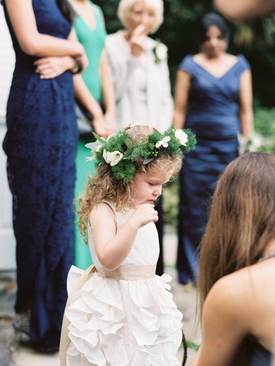 Flower Girl at Wedding at Old Edwards Inn in Highlands, NC
