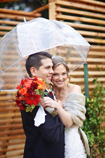 Rainy day wedding at Temecula Creek Inn