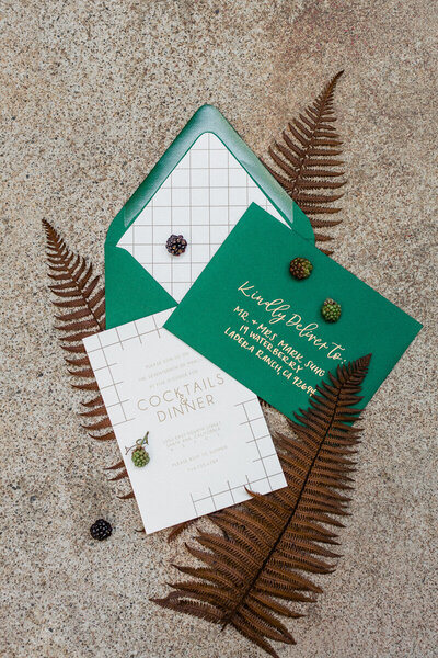 pirouettepaper.com | Wedding Stationery, Signage and Invitations | Pirouette Paper Company | Modern St. Patrick's Day Wedding | Ragi & Amanda Photography _ (4)