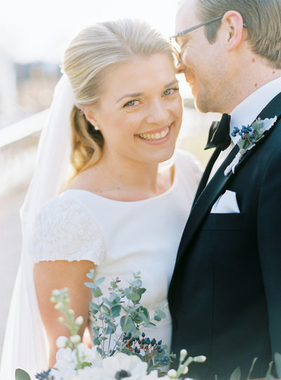 Outdoors winter wedding in Sweden