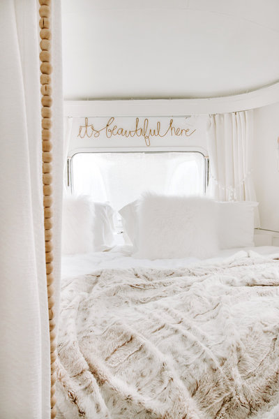 Shop our airstream bedroom faves  | Airstream RV trailer | DESIGN THE LIFE YOU WANT TO LIVE | Lynneknowlton.com |