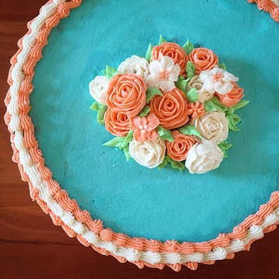 flower cookie cake