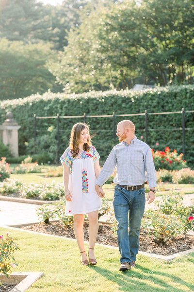 Summer Garden and Field Engagement Session in Birmingham Alabama-13