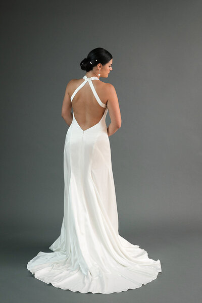 Back view of the Yuri wedding dress from the Edith Elan 2019 bridal collection