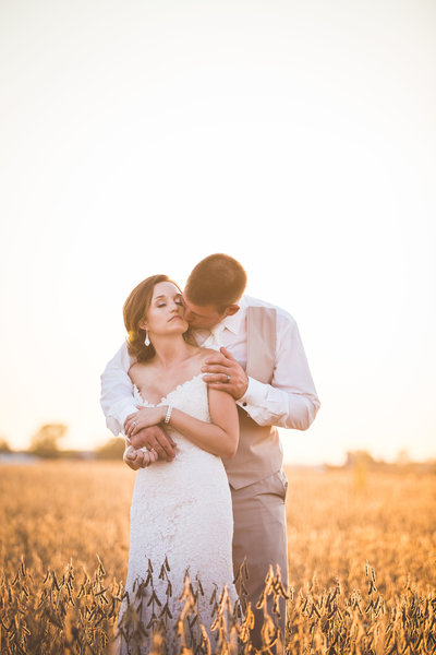 Country wedding in Ionia Michigan at First Farms