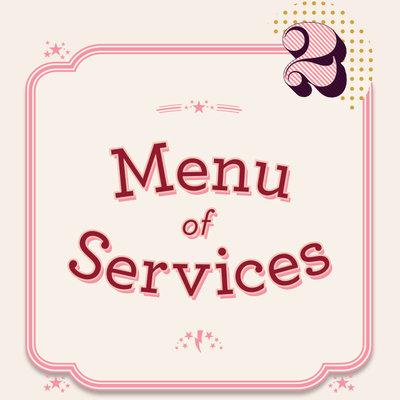 So Creative - Menu of Services