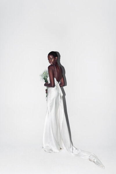 Where to shop for sustainable wedding dresses and bridal gowns? LVD Bridal is a modern, romantic, stylish bridal boutique with the most sustainable wedding dresses available as they are secondhand, consignment, and sample sale wedding dresses for unique, bohemian, romantic, and minimal brides.