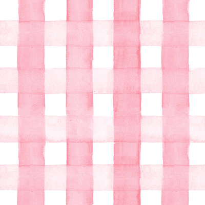 pink gingham gift wrap sample