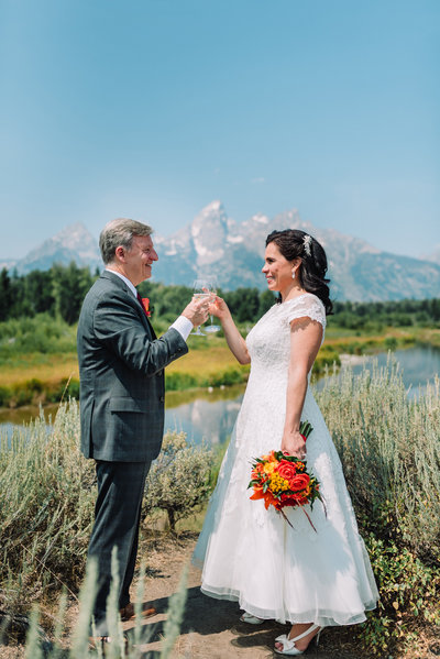 summer elopement in jackson hole wyoming