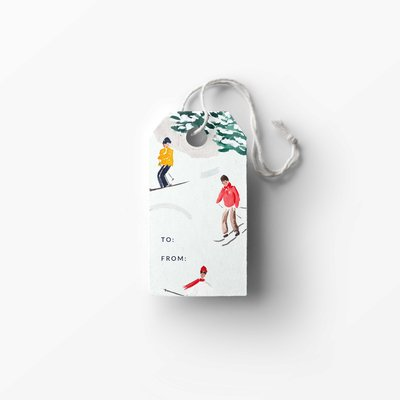 skiers gift tag mockup low res