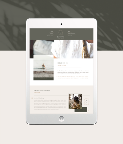 Sarah Ann Design - Website Design for Creatives - Magazine Website - Calette Magazine