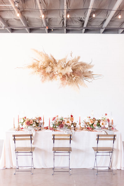 decorated table at venue on washington