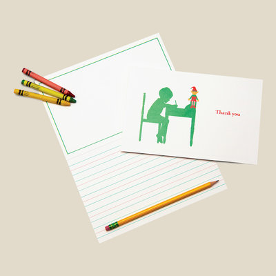 Kids stationery cards. Every card is over-sized, elementary-lined and offers space to get creative.