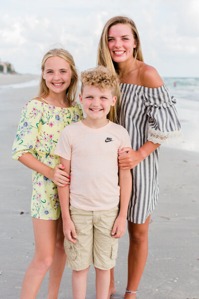 St. Pete Family on beach