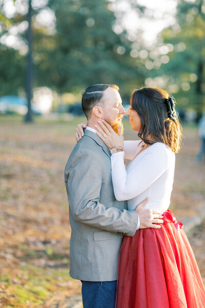 Engagement session held in the outskirts of Richmond, Virginia