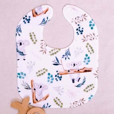 Luxury Australian Animal Koala Baby Toddler Bib Gift - Wombat & Friends