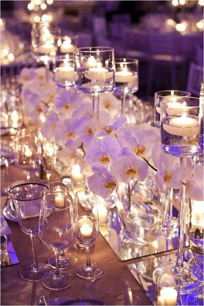 orchid clear candles