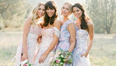 Couture-Floral-Print-Bridesmaid-Dresses