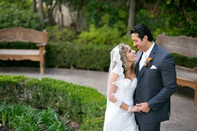 Bride and Groom at Rancho Bernardo Inn