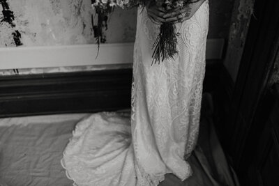 bride wearing bridal gown
