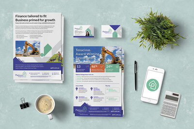 Platinum Package Home Loans Stationery by The Brand Advisory