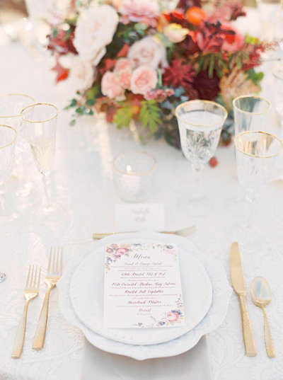 Luxury Table Setting for Autumn Wedding in Montana