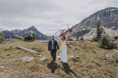 Alpine Helicopter Wedding