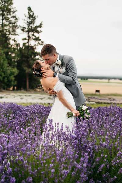 Lavender Manor Weddings in Spokane, Lavender Wedding Pictures, Best Spokane Wedding Venues, Clara Jay Photo