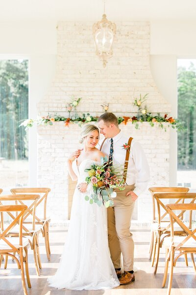 Indoor White Sparrow Wedding