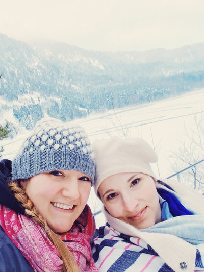 Hadassah and sister, Hope, visit the Bavarian Alps in Winter