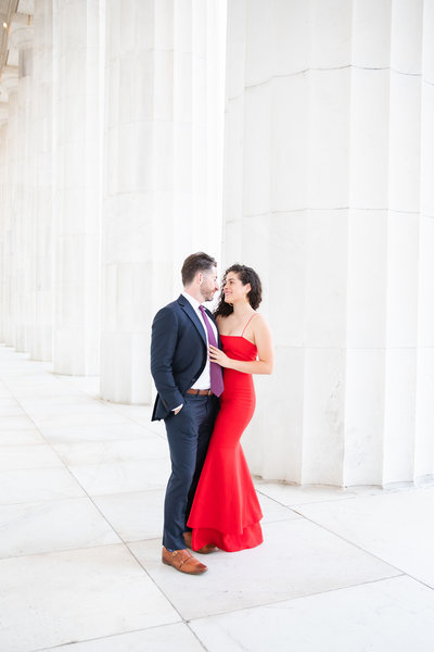 Stefanie Kamerman Photography - Julianna and Kevin - Engagement Session - Lincoln Memorial-31