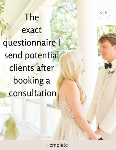 The Exact Questionnaire I Send Potential Clients After Booking a Consultation