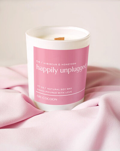 Soy Wax Candle Hibiscus Honeydew