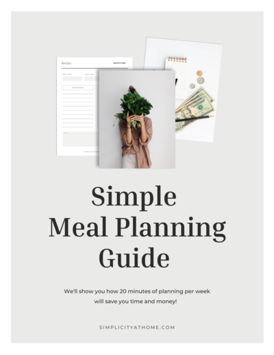 Free meal planning guide download - learn how 20 minutes per week can save you time and money