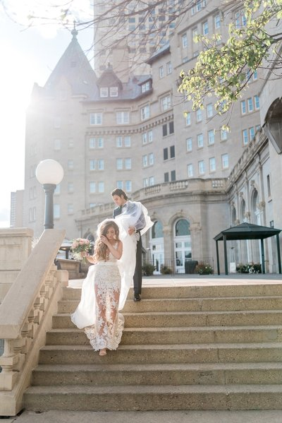 Fairmont Macdonald Wedding Photo