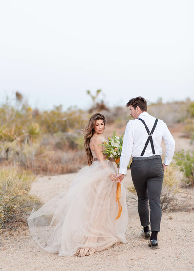 Bride and Groom at the Joshua Tree National Park
