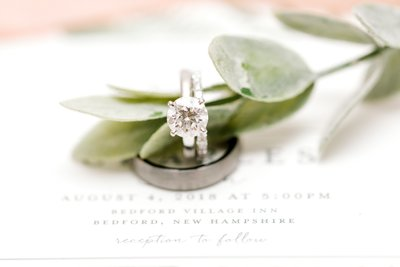 Diamond Wedding Ring set K. Lenox Photography