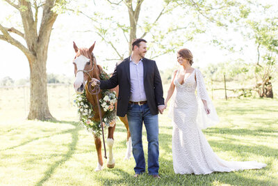 wedding with a horses