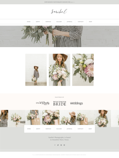 With Grace and Gold - Logo Design and Web Design for Creative Women in Business - Showit Theme, Template, Themes, Templates - Photo -4