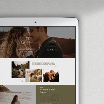 Showit and wordpress website for wedding photographers