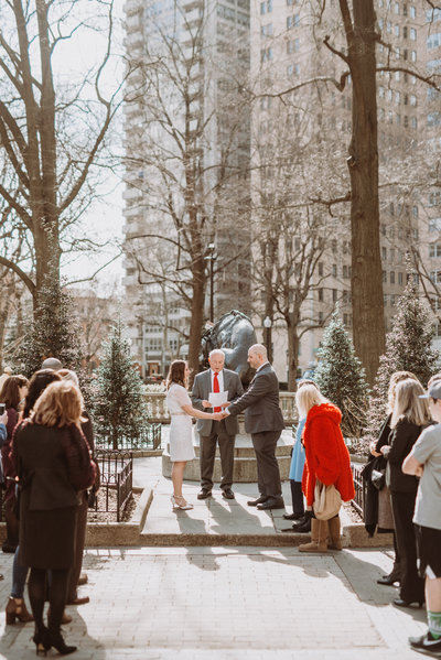 Photography of a Philadelphia center city elopement