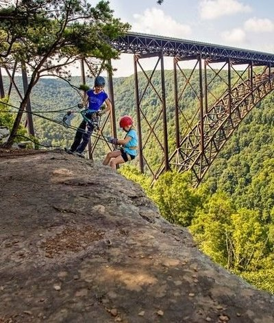 Adventure in the New River Gorge is endless. West Virginia  white water rafting is world-class, but there is so much more to explore, like rock climbing.