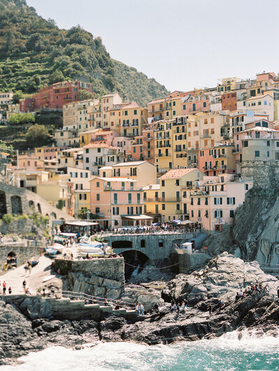 Manarola Cinque Terre view from the mountain