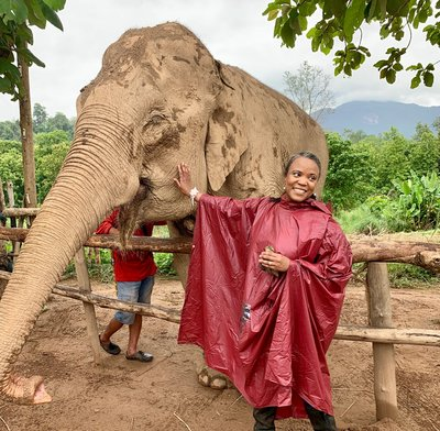 Feeding and Walking with Elephants in Laos