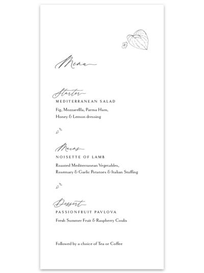 Anthurium-Menu