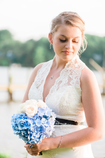 Beautiful Summer Bride with Wedding Bouquet
