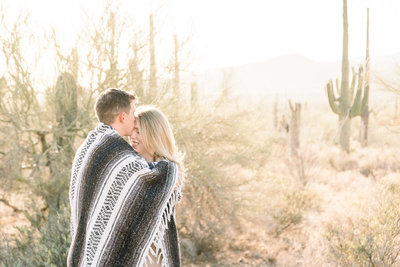 Tucson Desert Engagement Session Photo of Gates Pass During Golden Hour | Tucson Wedding Photographer